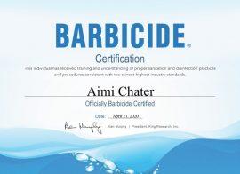 Barbicide Certificate_Aimi Chater