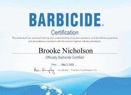 Barbicide Certificate_Brooke Nicholson