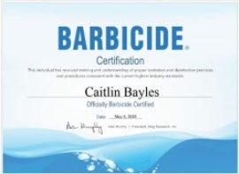 Barbicide Certificate_Caitlin Bayles