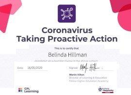 Belinda Hillman Covid 19 Proactive Action Care Certificate