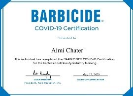 C19_Barbicide Certificate_Aimi Chater