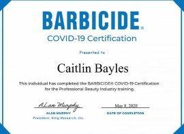 C19_Barbicide Certificate_Caitlin Bayles