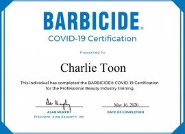 Charlie Toon Covid 19 Barbicide