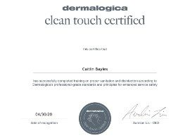 Clean Touch Dermalogica Certificate_Caitlin Bayles