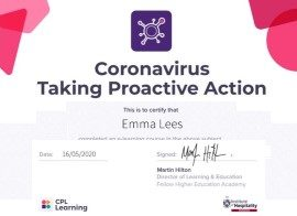 Emma Lees Covid 19 Proactive Action Care Certificate